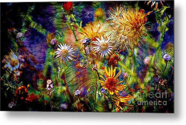 Wild Desert Flower Universe Metal Print