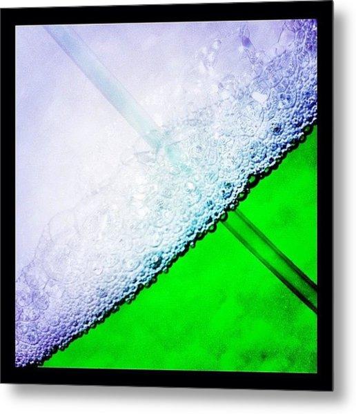 Wild Green Fiendy Liquid Metal Print