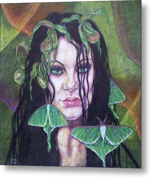 Wild Green Things Metal Print by Diana Shively