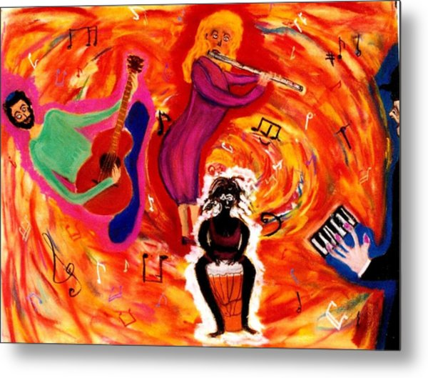 Wild Music Metal Print by Eliezer Sobel