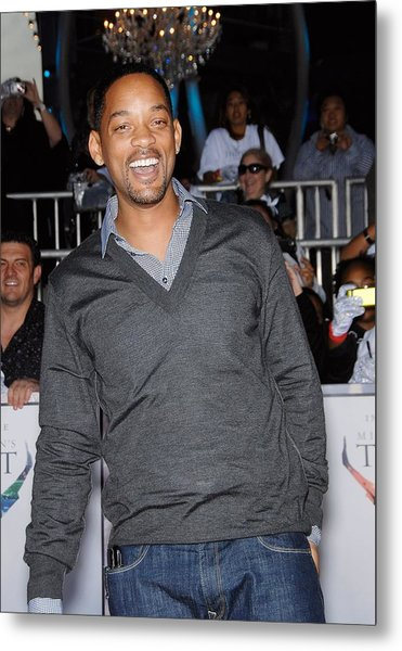 Will Smith At Arrivals For Michael Metal Print