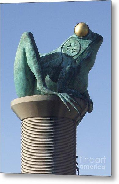 Willimantic Frog Bridge Metal Print