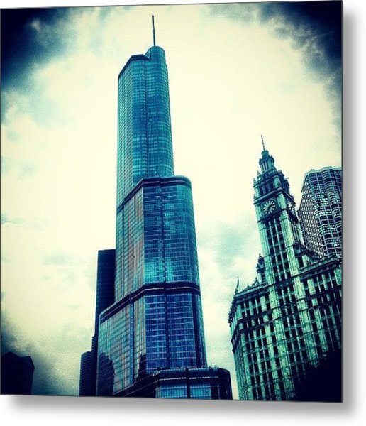 Willis Tower In #chicago Metal Print