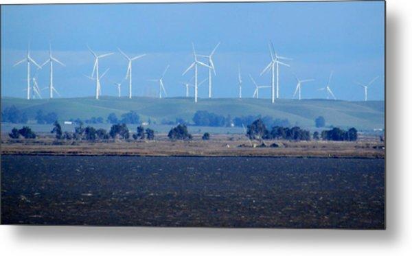 Wind Farm On The Delta Metal Print