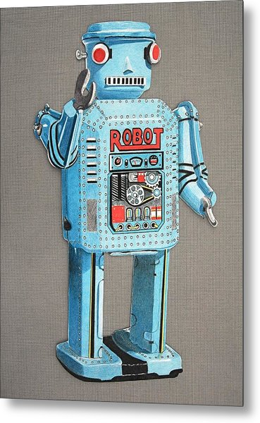 Wind-up Robot 2 Metal Print