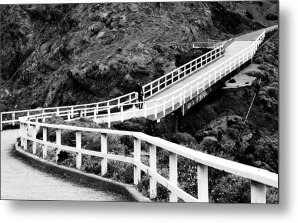 Winding Pass Metal Print