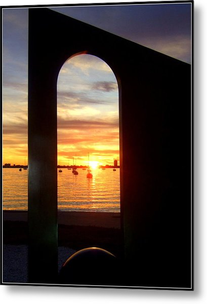 Window To The Bay Metal Print by Satya Winkelman