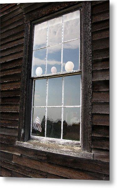 Window With Seashells Metal Print