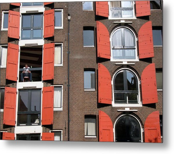Windows Metal Print by Jill Pro