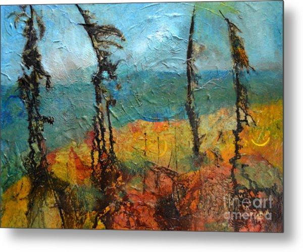 Windswept Pines Metal Print