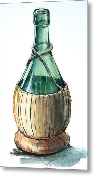 Wine Bottle Metal Print by Olin  McKay