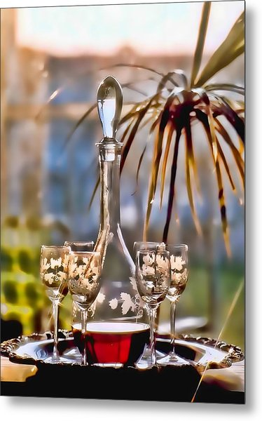 Wine For All Metal Print