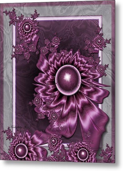 Wine Shimmer Metal Print