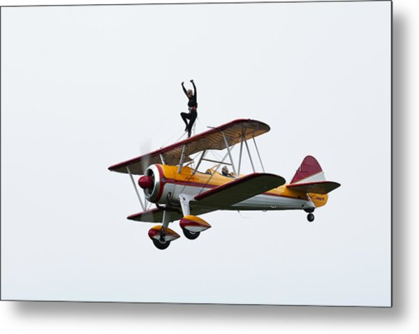 Wing Walker Metal Print by Sara Hudock