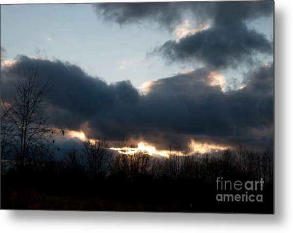 Winter Afternoon Clouds Metal Print by Gary Chapple