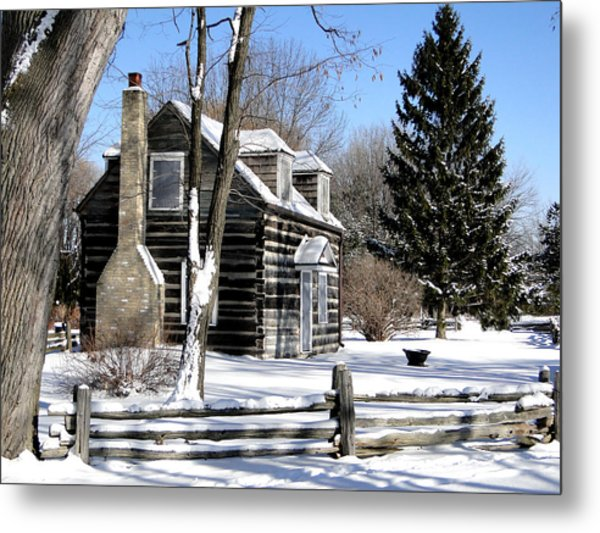 Winter Cabin 1 Metal Print