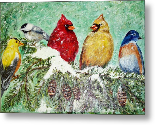 Winter Friends Metal Print