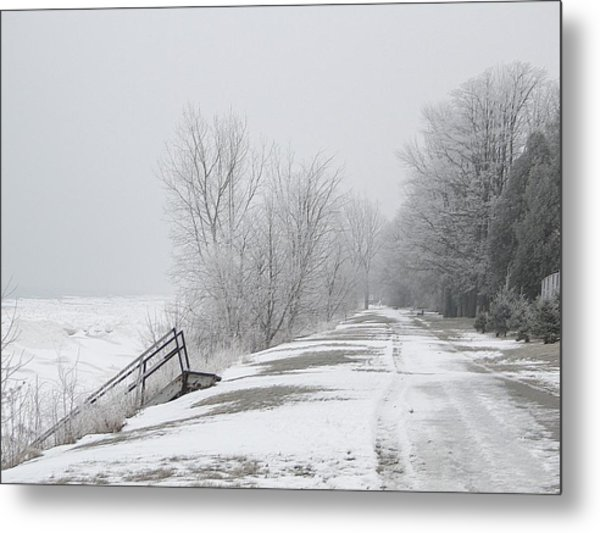 Winter On The Old Lakeshore Metal Print