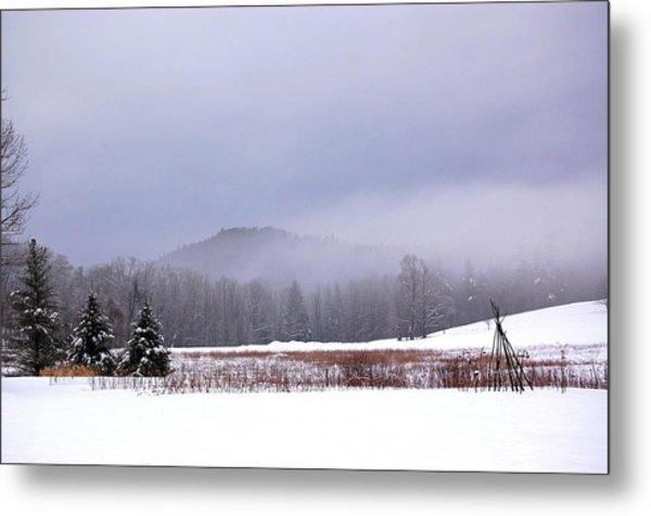 Winter Strata Metal Print