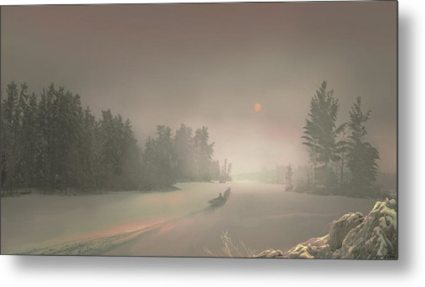 Winter Sunset Metal Print by Igor Zenin