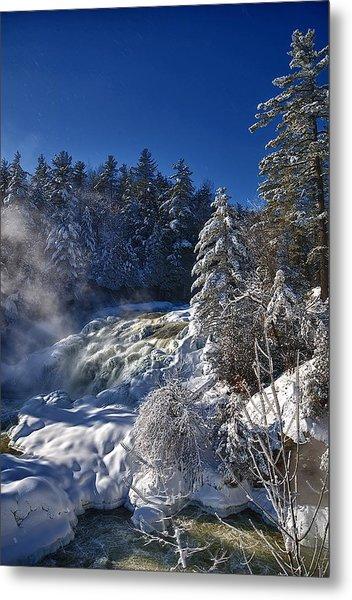 Winter Waterfalls Metal Print