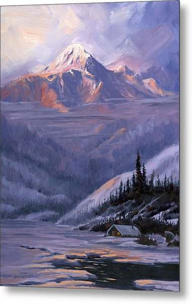 Winters Kiss Metal Print