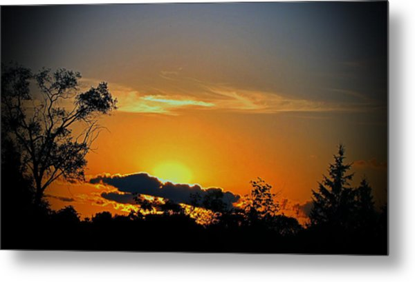 Wisconsin Sunset Metal Print