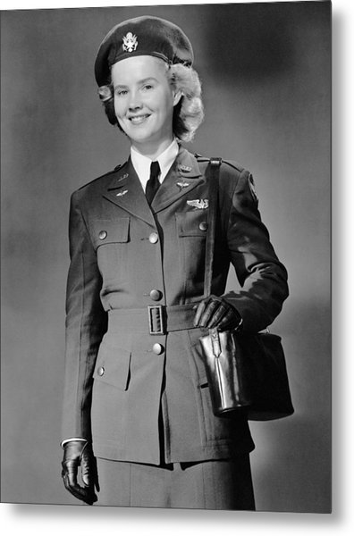 Woman In Uniform Metal Print by George Marks