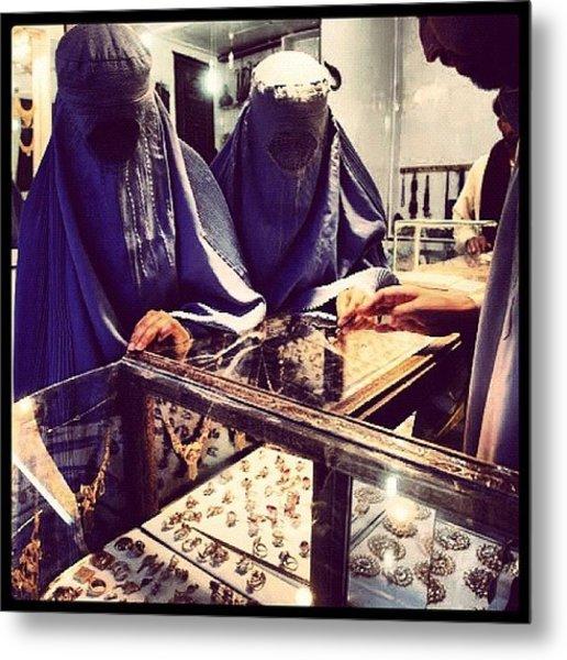 Women Shopping In Afghanistan Metal Print