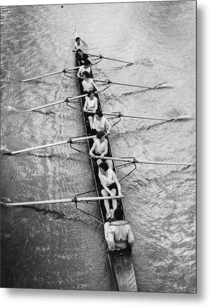 Women's Rowing Metal Print by William Wanderson
