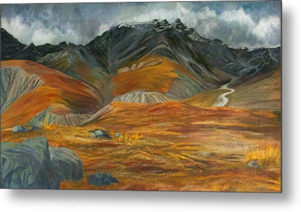 Wood  River Autumn Metal Print by Amy Reisland-Speer