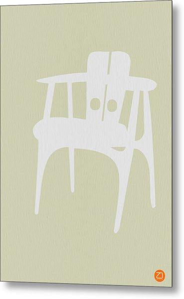 Wooden Chair Metal Print