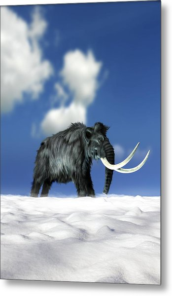 Woolly Mammoth, Artwork Metal Print by Victor Habbick Visions