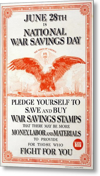 World War I, Poster In The Style Metal Print by Everett