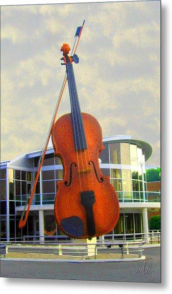 World's Largest Fiddle Metal Print
