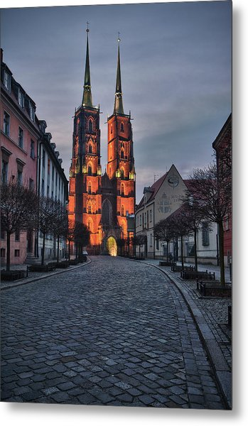 Wroclaw Cathedral Metal Print