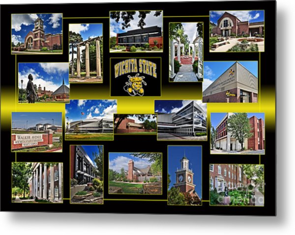 Wsu Collage Metal Print
