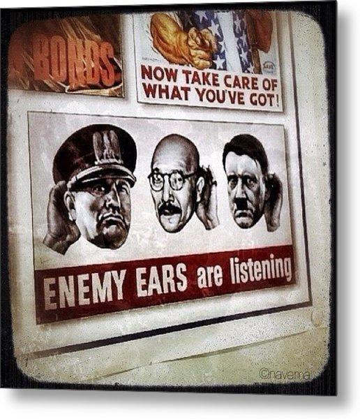 Ww2 Propaganda Metal Print