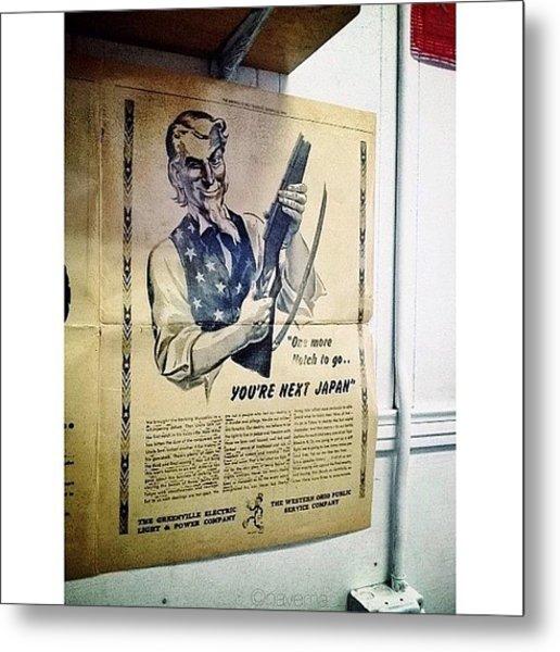 Ww2 Vintage War Bonds Advertising Metal Print