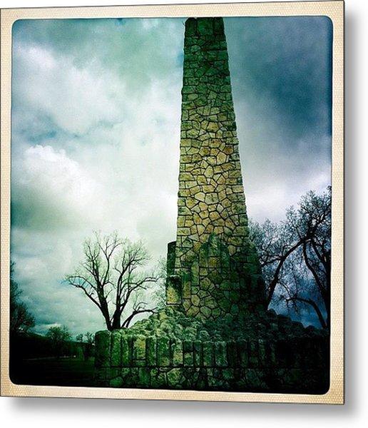 Wwi Monument At Fort Riley Ks Metal Print