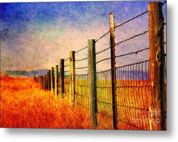 Wyoming Fences Metal Print