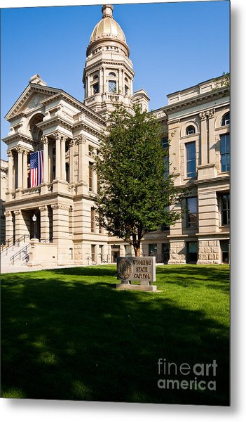 Wyoming State Capital Metal Print