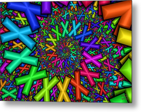 X Marks The Spot  Metal Print by Manny Lorenzo