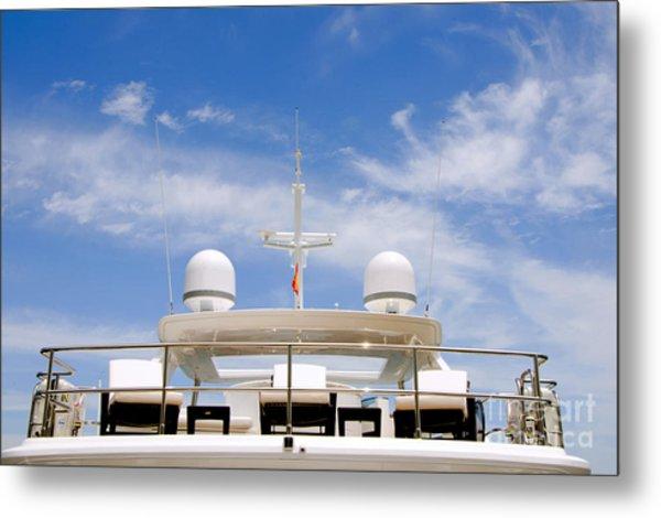 Yacht In Marbella Metal Print by Perry Van Munster