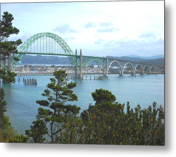 Yaquina Bay Bridge Newport Metal Print