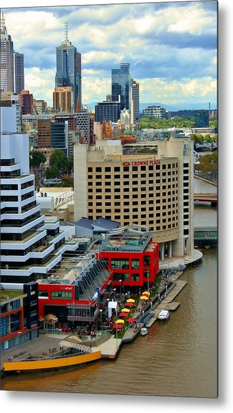 Yarra River City Block Of Primary Colors Metal Print