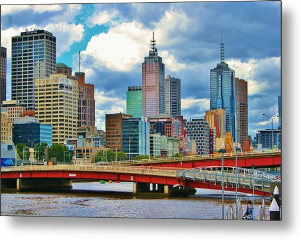 Yarra River City View Metal Print