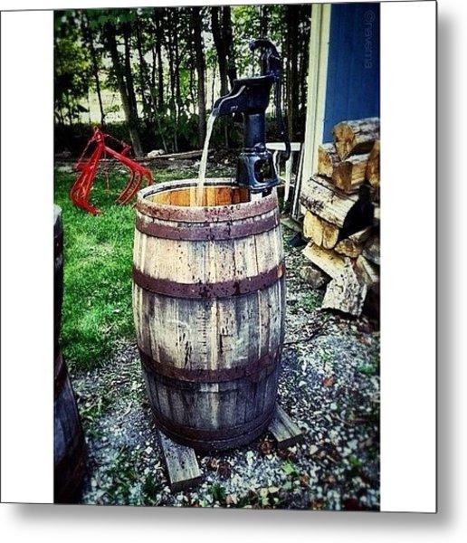 Ye Olde Water Pump Metal Print