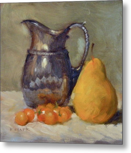 Yellow And Orange Metal Print