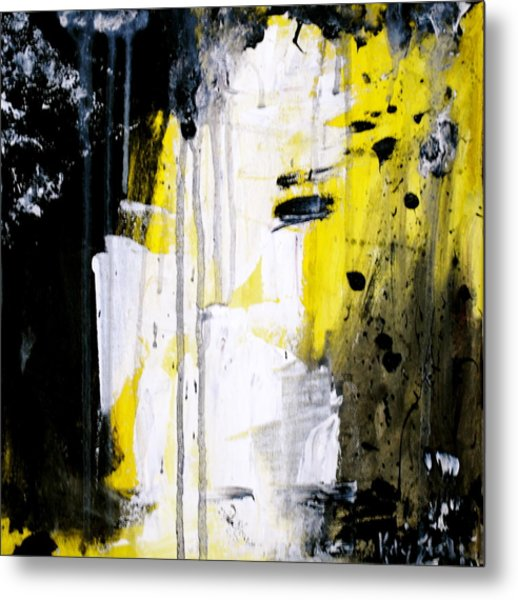 Yellow-black Metal Print by Kelly S